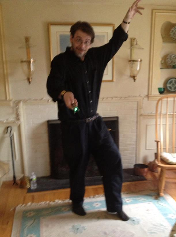 Me posing as The Doctor with my sonic screwdriver